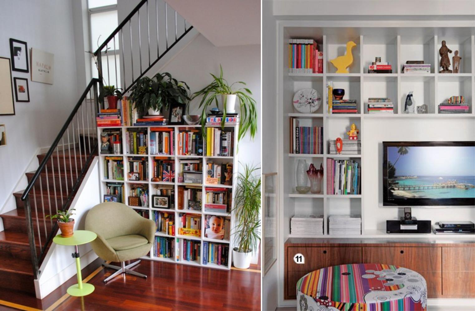 decoracao-com-estantes-com-livros-